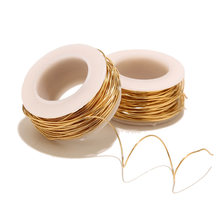 10meters/roll Gold Stainless Steel Wire 1mm Beading Rope Cord Fishing Thread String For DIY Necklaces Bracelets Jewelry Making