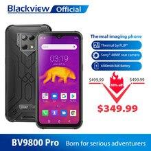 Blackview BV9800 Pro Global Eerste Thermische Beeldvorming Smartphone Helio P70 Android 9.0 6Gb + 128Gb Waterdicht 6580Mah mobiele Telefoon
