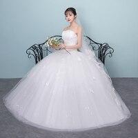 Train wedding dress bride ball gowns 2020 new princess bra simple lace up plus size wedding dresses tail dresses