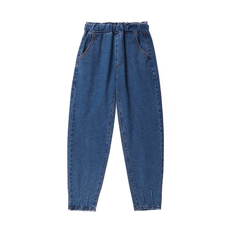 Sexemara 2019 autumn mum   jeans   high elastic washed pants plus size