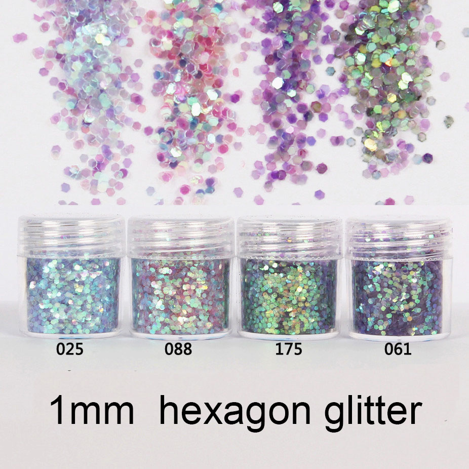 Mermaid Scale chameleon Aurora Hexagon Glitter Bling Bling Filling for Resin Craft Festive Jewelry Tools Uv Resin Pigment (4pcs) Pakistan