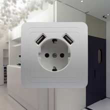 Wall-Socket Phone-Charge Usb-Port Livolo TDM Israel Universal EKF IEK Double New