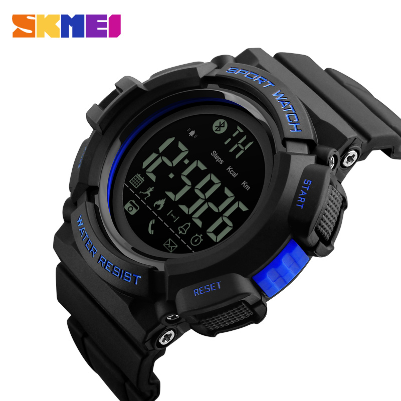 SKMEI Sports Watches Men Military Army Watch Alarm Clock Bluetooth Waterproof Digital Watch Men's Wristwatches Male Reloj Hombre