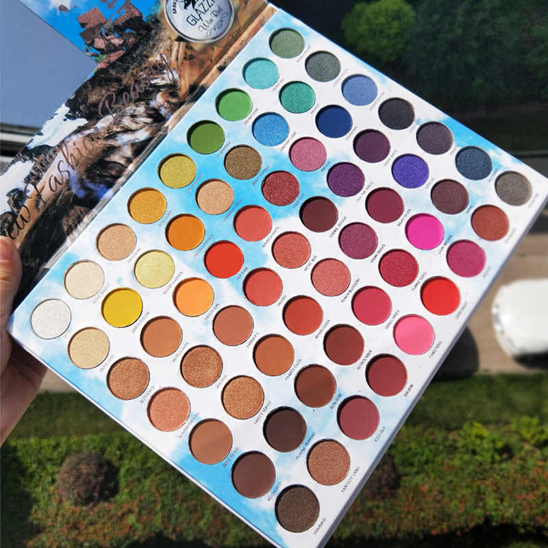 Make-up 63 Kleuren Regenboog Eyeshadow Palette Shimmer Gltter Matte Romige Oogschaduw Gepigmenteerde Maquillage Paleta de Sombra