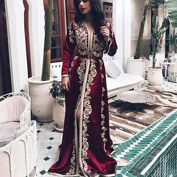 Eightree Moroccan Kaftan Evening Dress Long Sleeves Lace Appliques Muslim Prom Dress Arabic Formal Party Dresses Robe de Soiree eightree moroccan kaftan evening dress long sleeves lace appliques muslim prom dress arabic formal party dresses robe de soiree