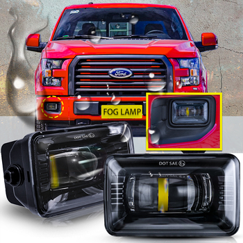 2015 2016 2017 for Ford F150 Morimoto Black LED Fog Lights Direct Fit 1500 Lumens Pair New