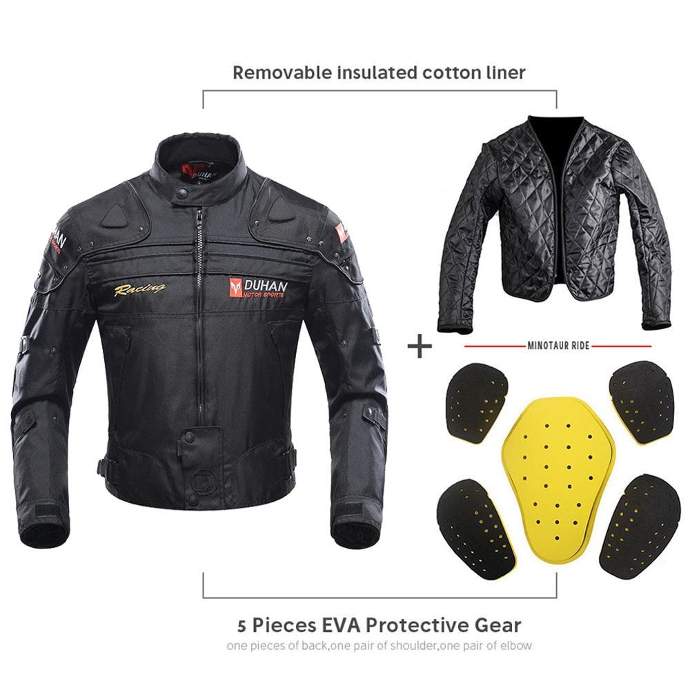 DUHAN coupe-vent Moto course costume équipement de protection armure Moto veste + Moto pantalon Hip protecteur Moto vêtements ensemble - 3