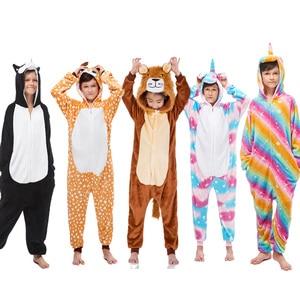 Kigurumi Children Kigurumi Pajama Kid Boy Girl Anime Overall Tiger Pijama Onesie Onepiece Baby Animal Sleepwear Cosplay
