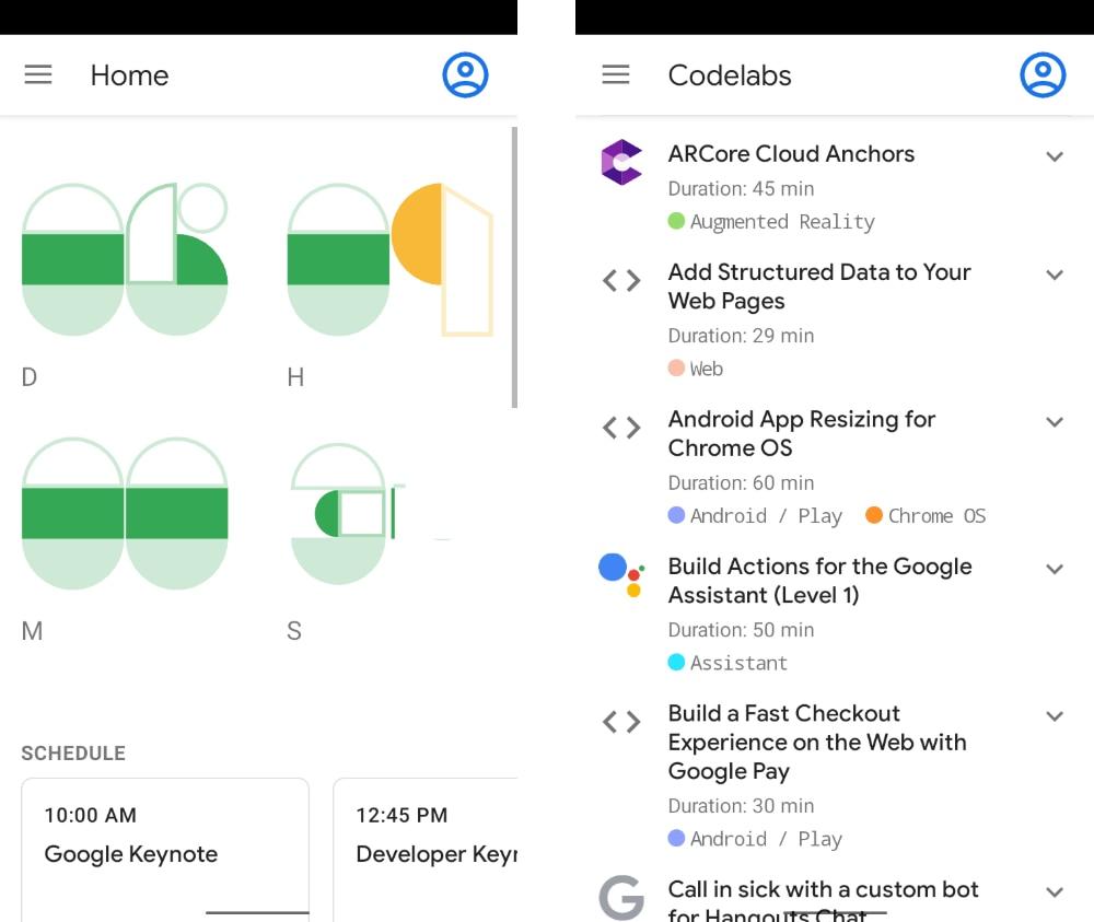 Google 开源 I/O 2019 大会上的 Android 应用