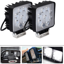 27W Square Spot Beam Led Work Light Driving Fog Lights Front Bumper With Mounting Bracket Kit 1Pcs 4Inch(China)
