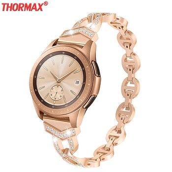 Women Diamond Bracelet for Samsung Galaxy Watch 46/42mm/Active Band for Samsung Gear S3 Quick Release Strap Metal Wrist Belt sam