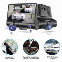 """4 """"auto Dvr Kameras Dual Objektiv Mit Rück Kamera Video Recorder Auto Registrator Dvrs 170 Grad Weitwinkel Dash kamera"""