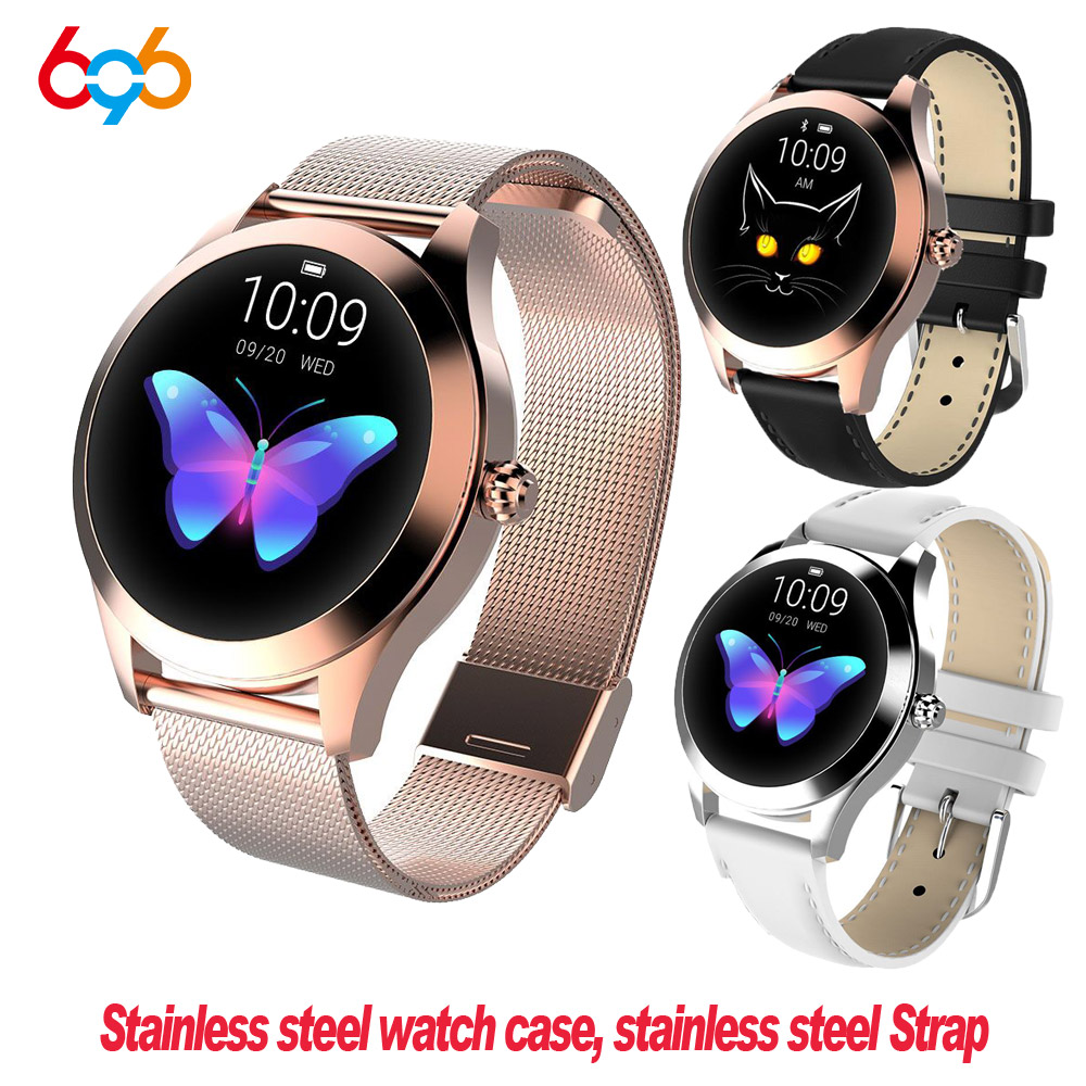 KW10 KW20 Smart Watch Women 2018 IP68 Waterproof Heart Rate Monitoring Bluetooth For Android IOS Fitness Bracelet Smartwatch