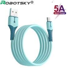 5a silicone líquido usb tipo c micro cabo usb para samsung s20 huawei xiaomi carregamento de dados rápido carregador cabo usb 0.25m 1m 1.5m