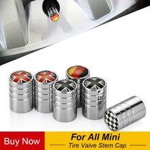 4 pçs de metal carro roda pneu válvulas caule tampas capa para mini cooper countryman clubman r57 r58 r60 r61 f55 f56 f60 estilo do carro