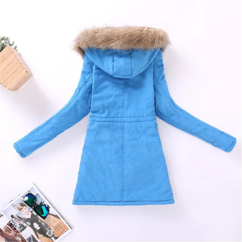 Womens Parka Casual Outwear Autumn Winter Military Hooded Coat