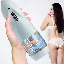 Automatic Rotation cup Male Masturbator 10*10 modes Silicone vagina real pussy adult masturbation sex toys for men