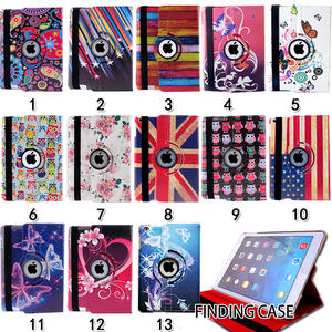 Printing Multicolor 360 Rotating Flip PU Leather Case Cover for IPad 2/3/4 Smart Tablet