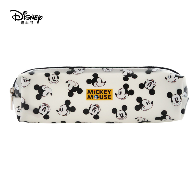 Disney New Mickey Mouse Portable Pen Pencil Cartoon Bag Storage Waterproof Boys And  Children Student Gift Jelly Pencil Case