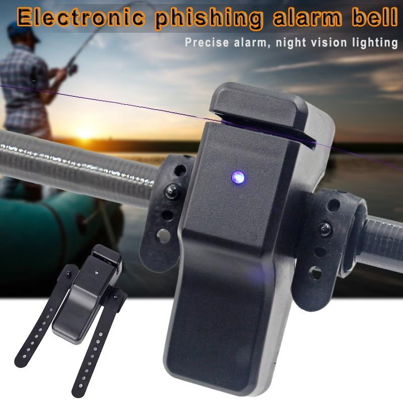 Electronic Fishing Bite Alarm Alert Bell Fish Rod Clip-On Indicator