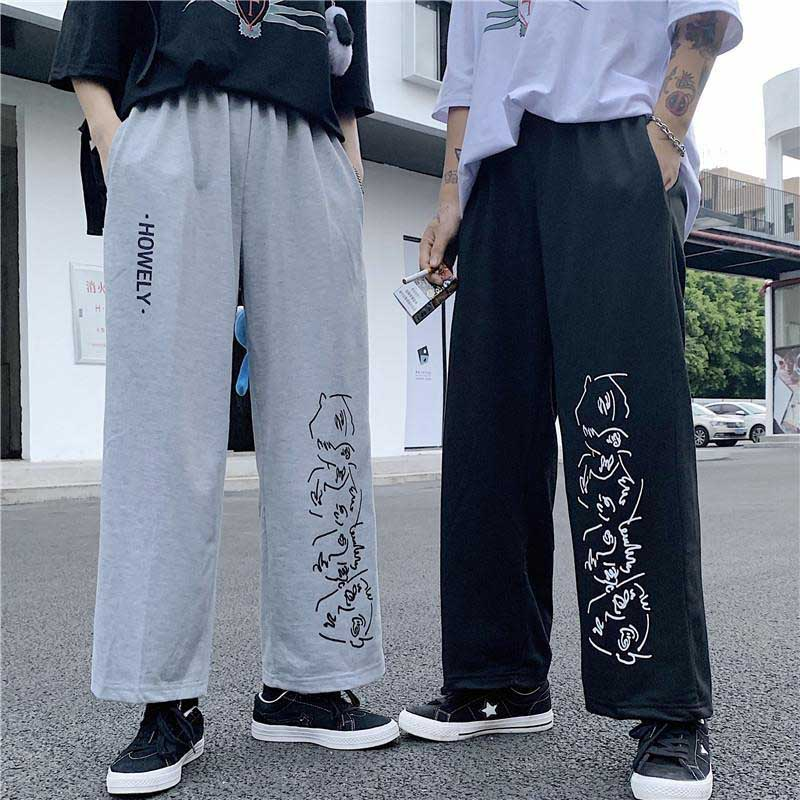 NiceMix Harajuku Spring Sweatpants Women Pants Fashion Big Size Loose Baggy Joggers Track Pants Hip Hop Harem Trousers Wide Leg