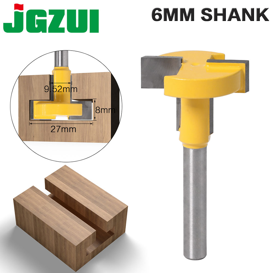 "1pcs Top Quality T-Slot & T-Track Slotting Router Bit - 8""6mm Shank For Woodworking Chisel Cutter Wholesale Price"