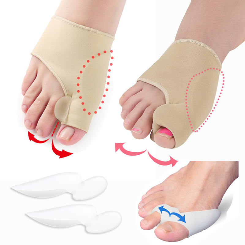 Hallux Valgus Bunion Corrector Pedicure Tools Silicone Toe Separator Valgus Pro Foot Straightener Orthopedic Bunion Protector