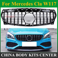 CLA W117 GT R style Grille for Mercedes Front Grill for CLA Class Mercedes Benz W117 C117 CLA200 220 CLA260 300 AMG 2013 2018