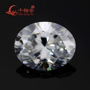 Image 5 - DF GH IJ color white oval shape dia mond cut Sic material moissanites loose gem stone qianxianghui