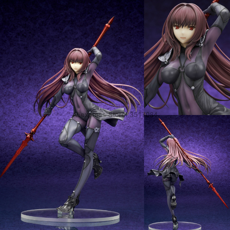 Anime Night Fate Grand Order Lancer Scathach Tracksuit <font><b>Sexy</b></font> <font><b>Girl</b></font> Action Figure Collection Model Doll Adult Boy Gift image