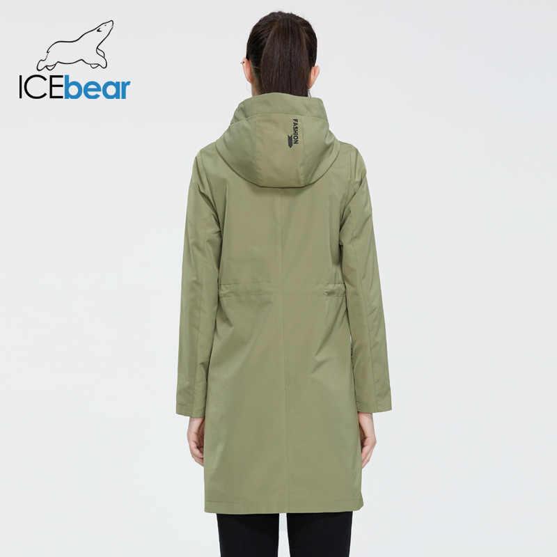 ICEbear 2020 여성 봄 스포츠 용 재킷 여성 긴 옷 후드 고품질 브랜드 의류 GWF20002I