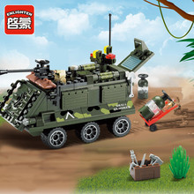 цена на Enlighten814 167pcs building block sets bricks blocks eductional blocks for children toys Armored car compatible with logofigure