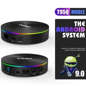 Image 3 - T95Q 4GB 64GB אנדרואיד 9.0 טלוויזיה תיבת 4K מדיה נגן DDR3 Amlogic S905X3 Quad Core 2.4G & 5GHz Dual Wifi BT4.0 100M H.265 חכם טלוויזיה תיבה