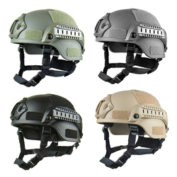 Tactical Adjustable ABS Helmet with Adjustable Strap and Soft Sponge One Size for Military Gaming Hunting Shooting CS