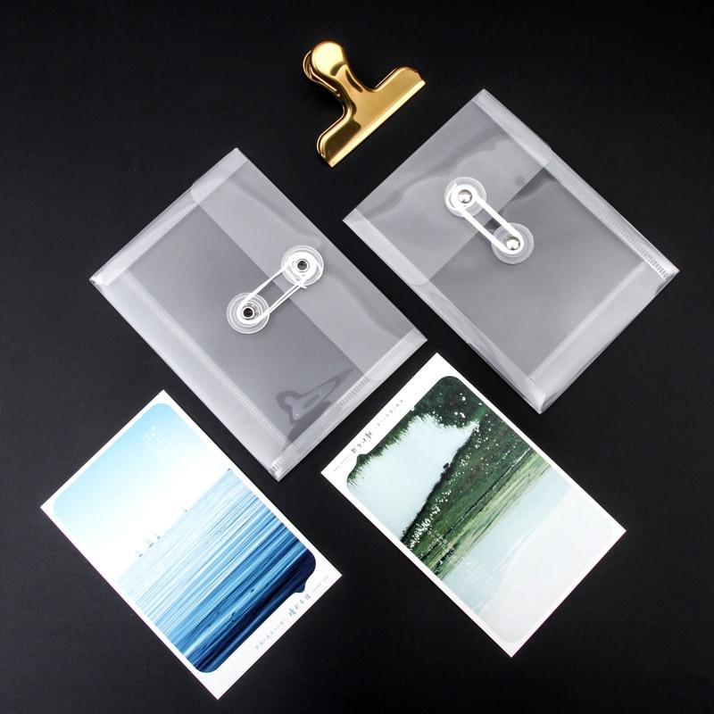 1pc Transparent Waterproof A6 Document Envelope Bag Bill Photo Storage Document File Bag School & Office Supplies
