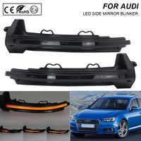 2X Rauch LED Dynamische Spiegel Blinker Licht Blinker Lampe Für Audi A4 A5 RS4
