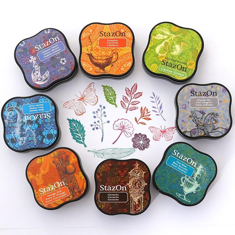 1pc Japan Tsukineko Stazon Inkpad Creative Colourful Planner Scrapbooking Silicone Stamp Greeting DIY Card Making Supplies