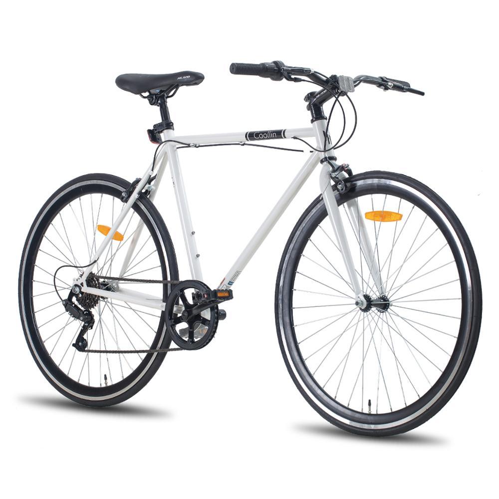 Hiland Coollin дорожный гибридный велосипед 700C колеса с одной скоростью или 6 скоростями, дорожный велосипед