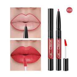 2IN1 Double End Waterproof Moisturizing Lipstick Matte Lip Liner Waterproof Lipstick Nourish Moisturizing Professional Lip