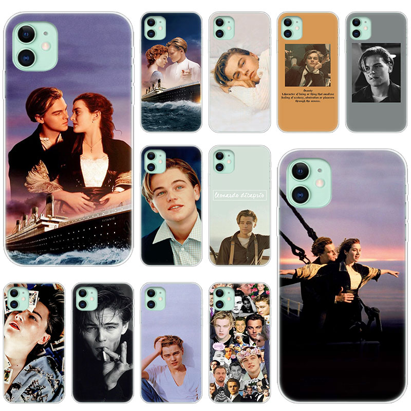 Hot Leonardo DiCaprio young Silicone Transparent Case for Apple iPhone 11 Pro XS Max X XR 6 6s 7 8 Plus 5 5s SE Fashion Cover