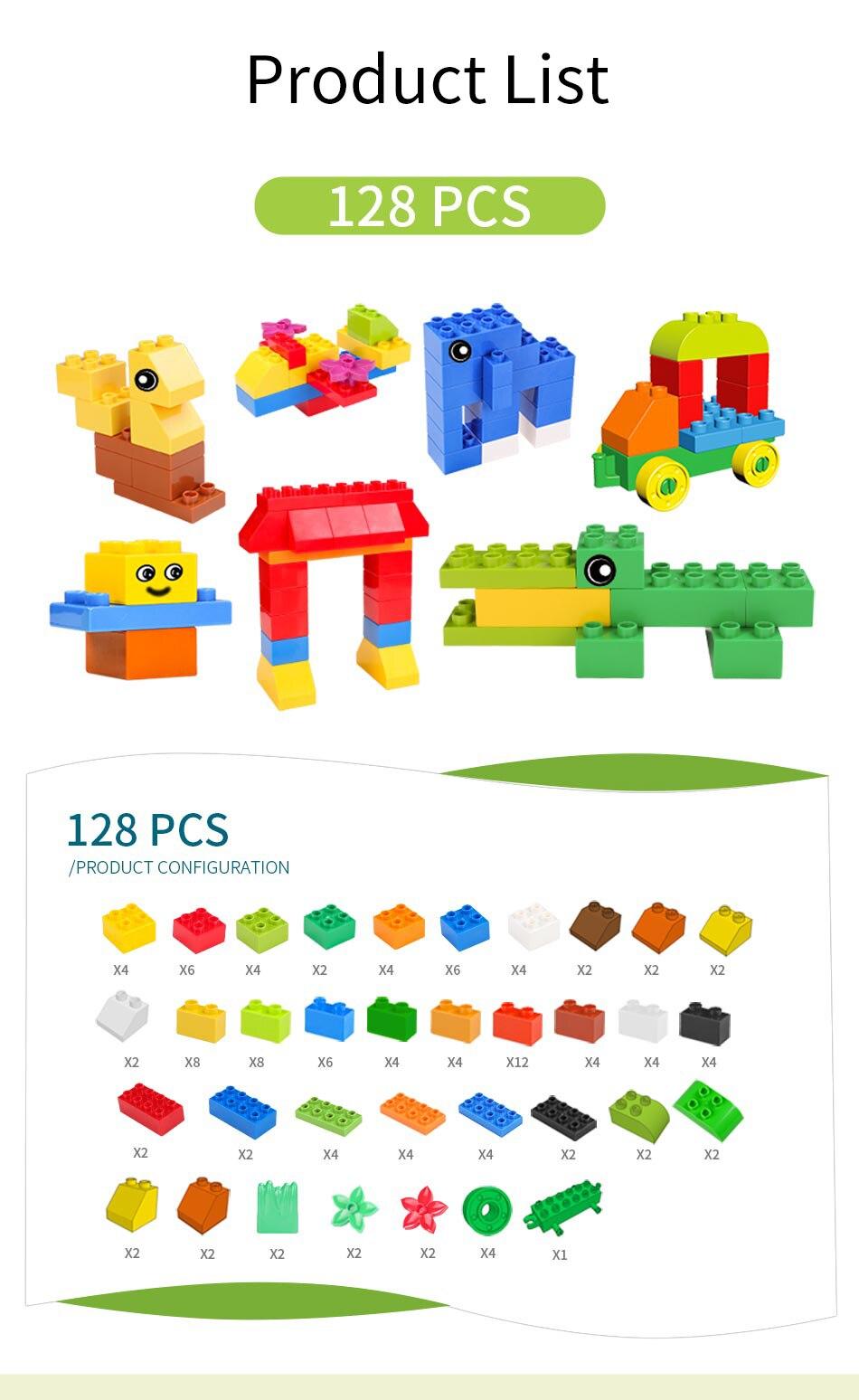 72 260 peças tamanho grande blocos de