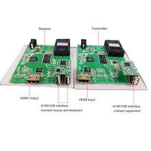 Convertidor HDMI + USB sobre fibra, convertidor CVI TVI AHD 2MP a fibra, Audio + LAN sobre convertidor de fibra PCB