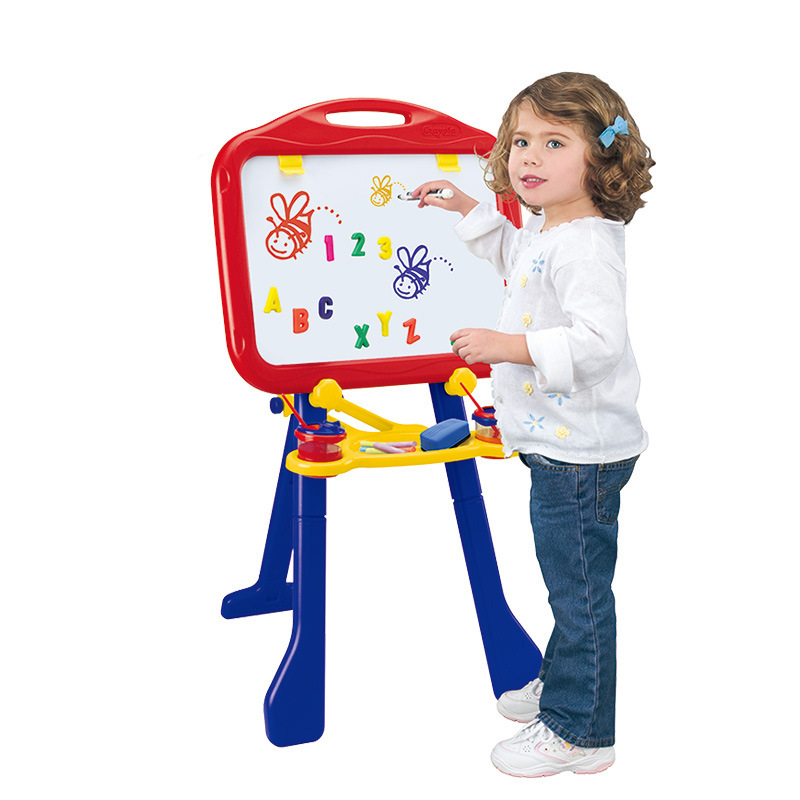 Crayola CHILDREN'S Drawing Board Magnetic Double-sided Easel Plastic Lifting Bracket Writing Board Blackboard 5032