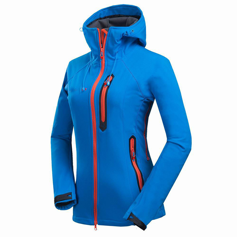 New Outdoor Brand Soft Shell Waterproof Women Jacket Skiing Windproof Thermal Camping Jacket Female Soft Shell Jacket