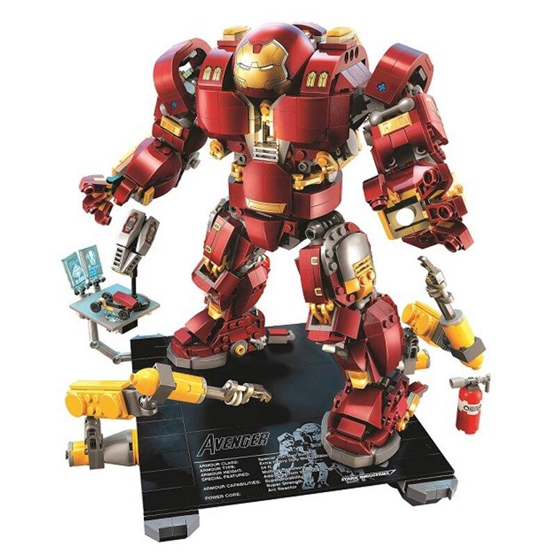 Oyuncaklar ve Hobi Ürünleri'ten Bloklar'de Bela 10833 uyumlu Legoinglys Marvel süper kahramanlar serisi 76105 demir adam Anti Hulk Mech çocuk için oyuncak yapı tuğlaları blokları'da  Grup 1
