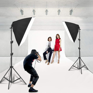 Image 5 - Photography Lighting 50x70CM Four Lamp Softbox Kit E27 Holder With 8pcs Bulb Soft Box AccessoriesFor Photo Studio Video