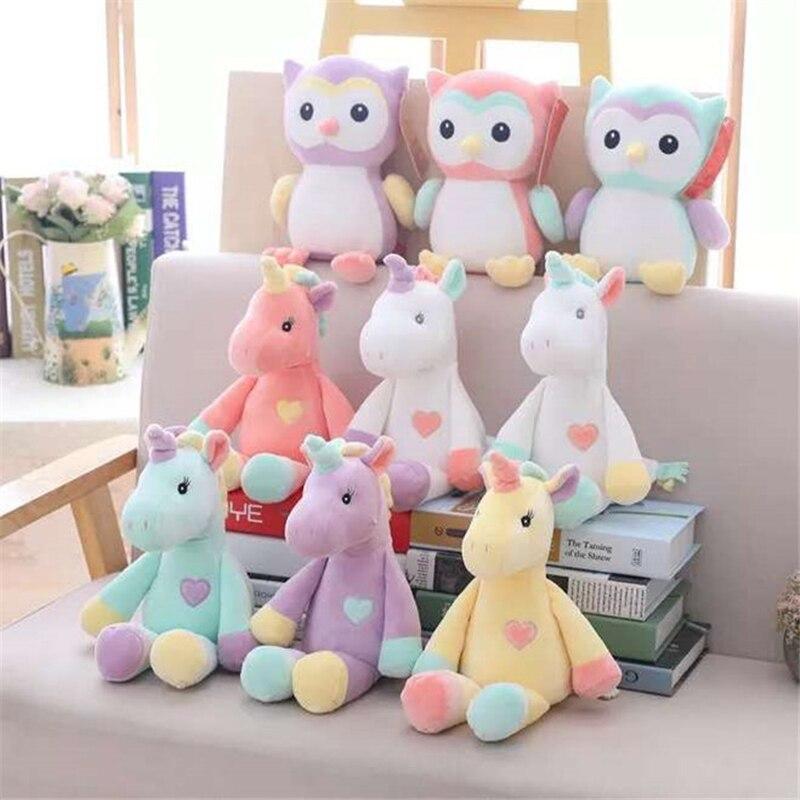 Nuevo de peluche unicornio de juguete comodidad niño almohada muñeca animal de peluche suave de peluche de juguete regalo de cumpleaños para niñas regalo M98