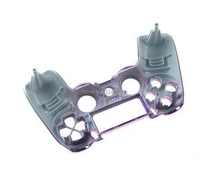 Image 2 - 1 pièces de rechange JDS 001 JDM 011 placage boîtier supérieur avant coque couvercle avant chromé pour PS4 JDS 001