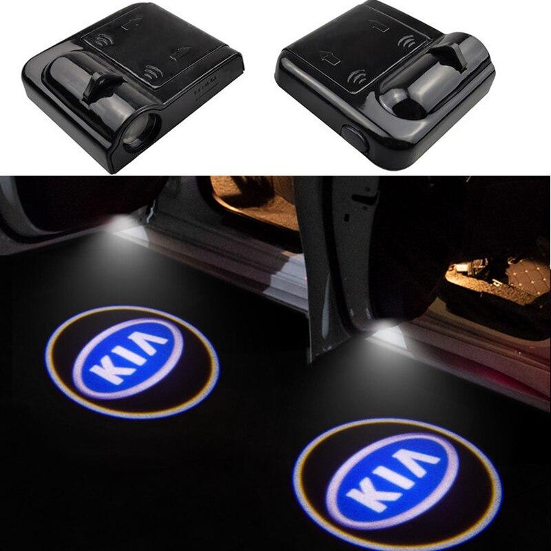 2 шт. двери автомобиля светодиодный любезно светильник Добро пожаловать лазерный проектор лампа для KIA K2 K3 K4 K5 K3S KS7 K9 KX5 KX3 Sportage CERATO Рио Carens