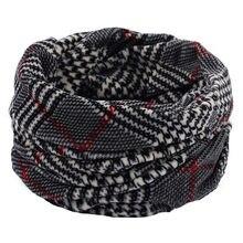 Lenço de lã de inverno quente cachecol de lã de cashmere infinito cachecóis pescoço círculo anel s